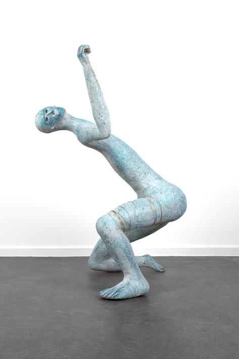 HENK VISCH Cosmic Dance #2: The Mountain of Flowers and Fruit, 2018 bronze, brass 90 x 65 x 47 cm