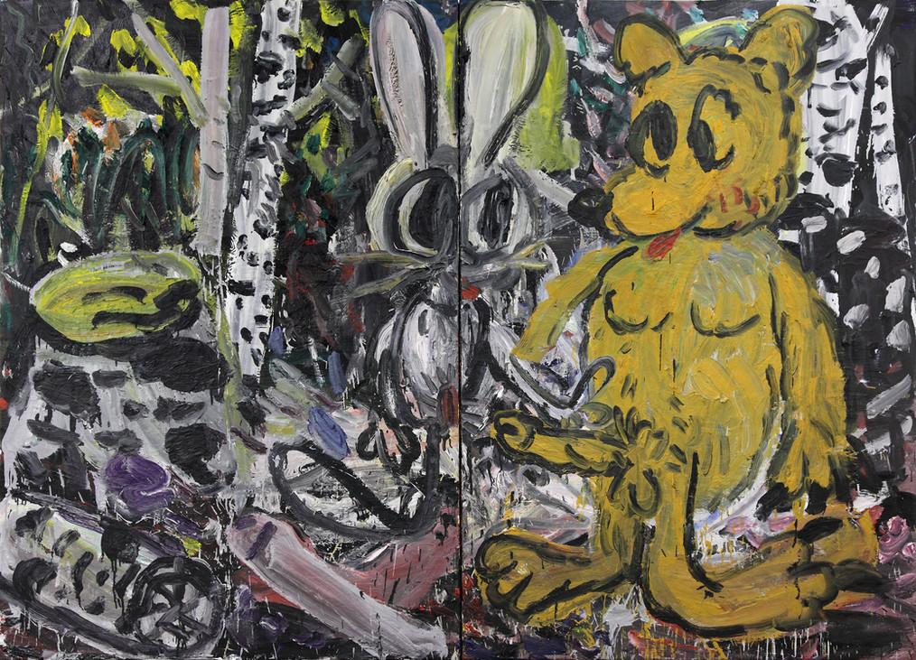 ARMEN ELOYAN, Rabbit and Bear or Bear and Rabbit, 2011