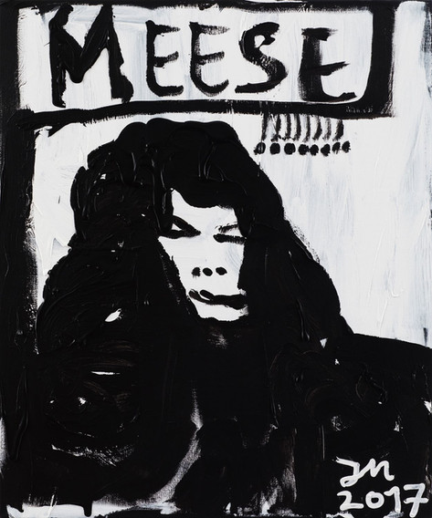 JONATHAN MEESE MR. SALZGERMANY DR. FLOW, 2017 acrylic on canvas 120,5 x 100.3 x 3,3 cm