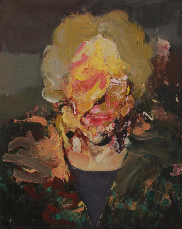 ADRIAN GHENIE Pie Fight Study, 2013 oil on canvas 50 x 40 cm