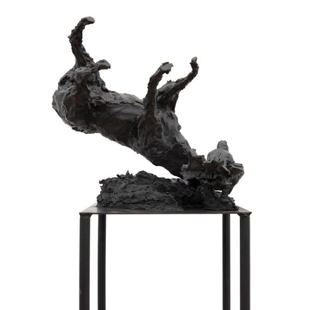 PETER ROGIERS The History of Old Men, 2020 bronze 166 x 35 x 40 cm