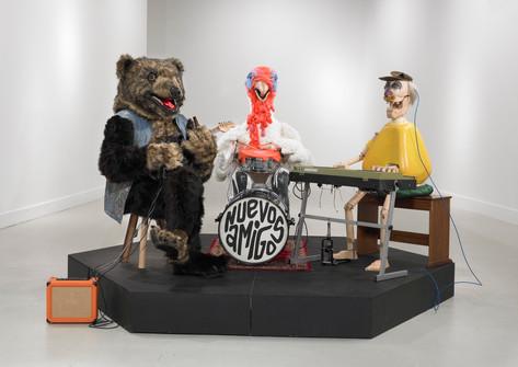 KATI HECK Neue Freunde (The band), 2013 mixed media dimensions variable