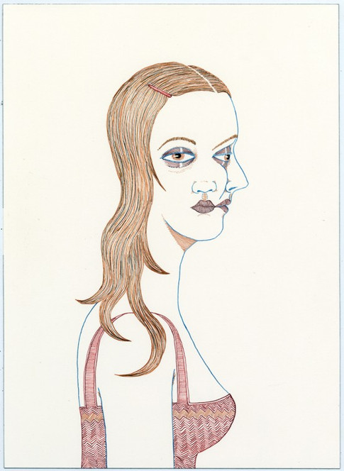 ED TEMPLETON, Two faced girl, 2012