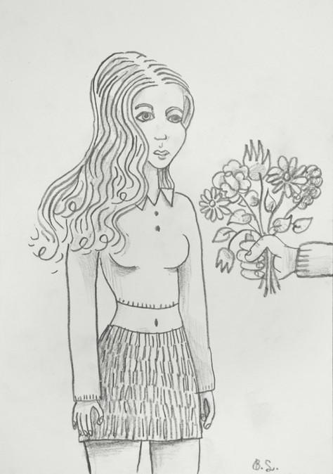 BEN SLEDSENS, Flowers for her, 2016