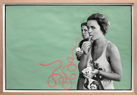 ED TEMPLETON Ice Cream Girls, Huntington Beach, 2013 60,5 x 89 cm unique photograph with paint