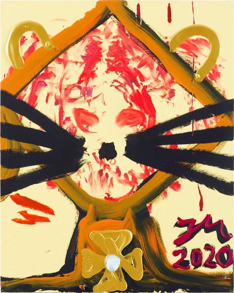 JONATHAN MEESE ZACK-ZACK!, 2020 acrylic on canvas 100,4 x 80,2 x 3,3 cm