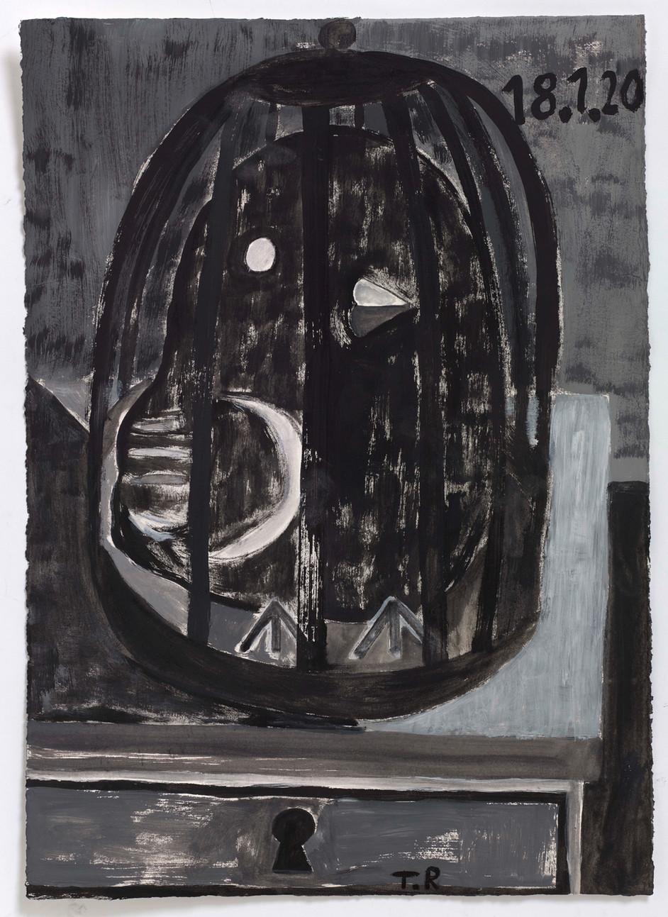 TAL R Elisabeth, 2020 gouache on paper 76 x 55 cm
