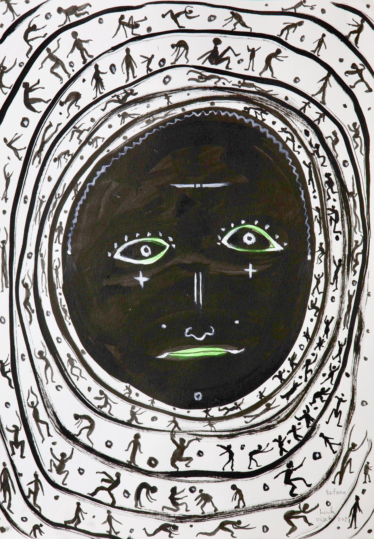 HENK VISCH Return, 2021 water color, ink and pencil on paper 42 x 29,7 cm