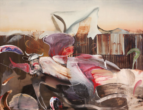 ADRIAN GHENIE The Farm, 2019 oil on canvas 230 x 300 cm