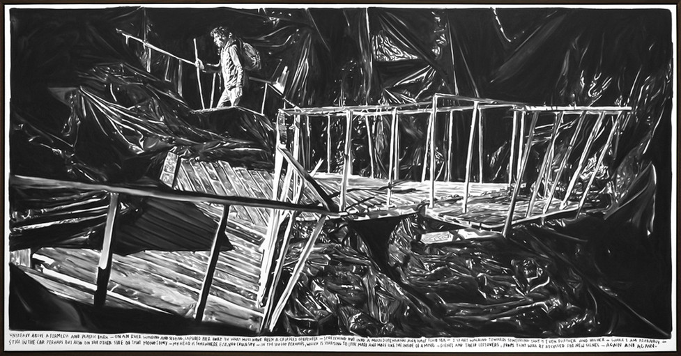 RINUS VAN DE VELDE, Unsteady above a formless and plastic dark..., 2015