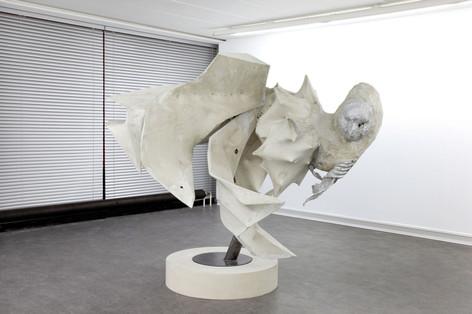 PETER ROGIERS, The Implosion of Jonathan Swift, 2009 191 x 225 x 188 cm acrylresin, steel, aluminium, epoxy, wood
