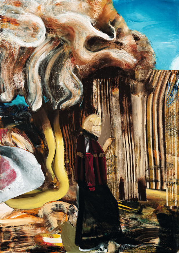 ADRIAN GHENIE The Storm 2, 2017 oil on canvas 240 x 170 cm