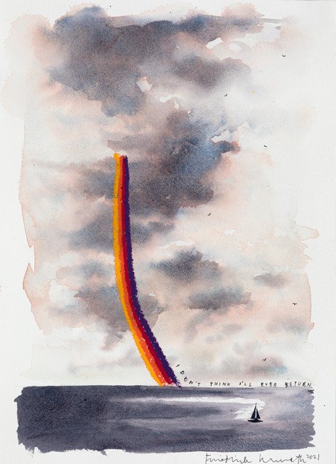 FRIEDRICH KUNATH I Don't Think I'll Ever Return, 2021 watercolor and archival ink on paper 36 x 26 cm