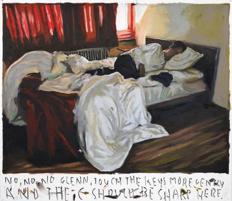 RINUS VAN DE VELDE No, no, no Glenn,..., 2021 oil pastel on paper 73,3 x 84 cm