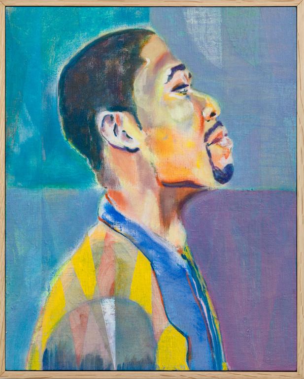 RYAN MOSLEY Patrick, 2016 oil on linen on board, framed 52 x 42 cm