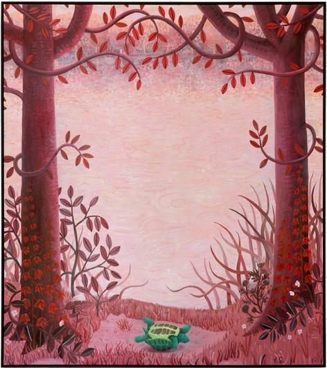 BEN SLEDSENS The Turtle, 2019 oil, acrylic and spray paint on canvas 200 x 177 cm
