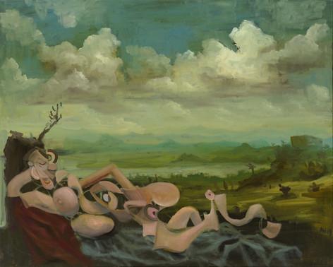 ANTON HENNING Pin-up No. 243, 2019 oil on canvas 120,2 x 150,3 cm