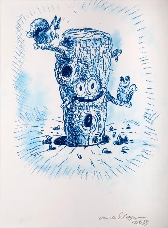 ARMEN ELOYAN, Stump Drawing 4, 2018