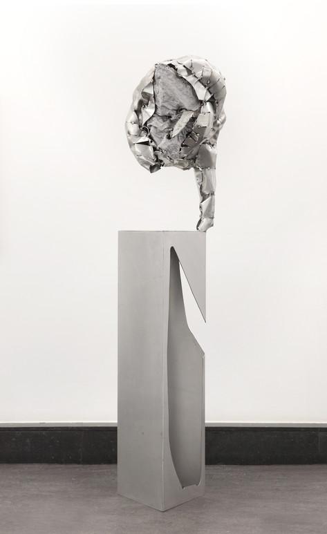 PETER ROGIERS Licking Eyeball (Beauty is in the eye of the beholder), 2013 aluminium 199 x 49 x 53 cm