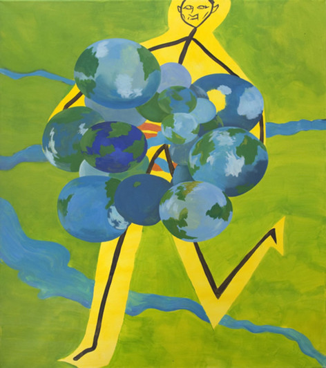 TOMASZ KOWALSKI Bez Tytulu, 2016 oil and acrylic on canvas 160 x 140 cm