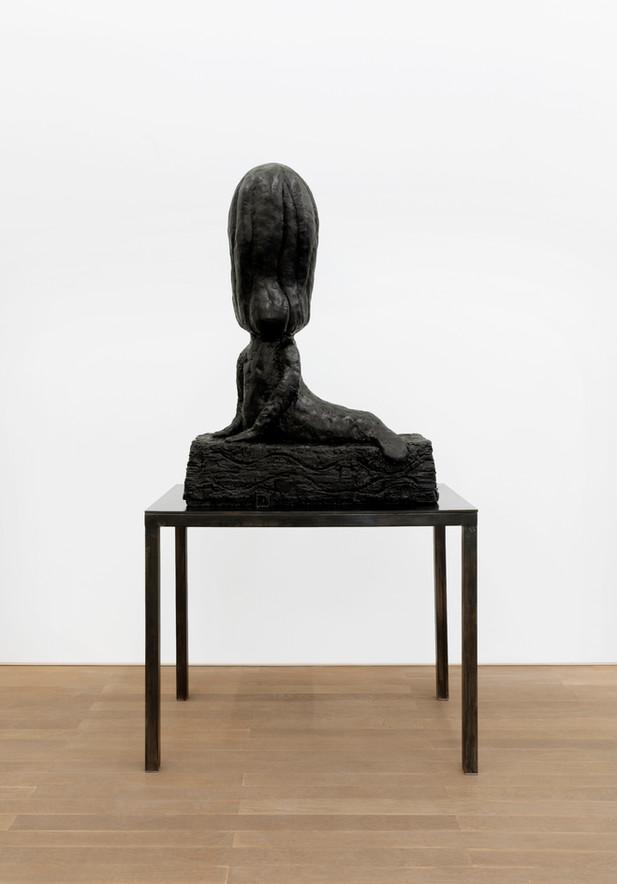 EDWARD LIPSKI Mermaid, 2020 rubber, steel 112 x 80 x 35 cm (sculpture) 81 x 101 x 55 cm (plinth) unique