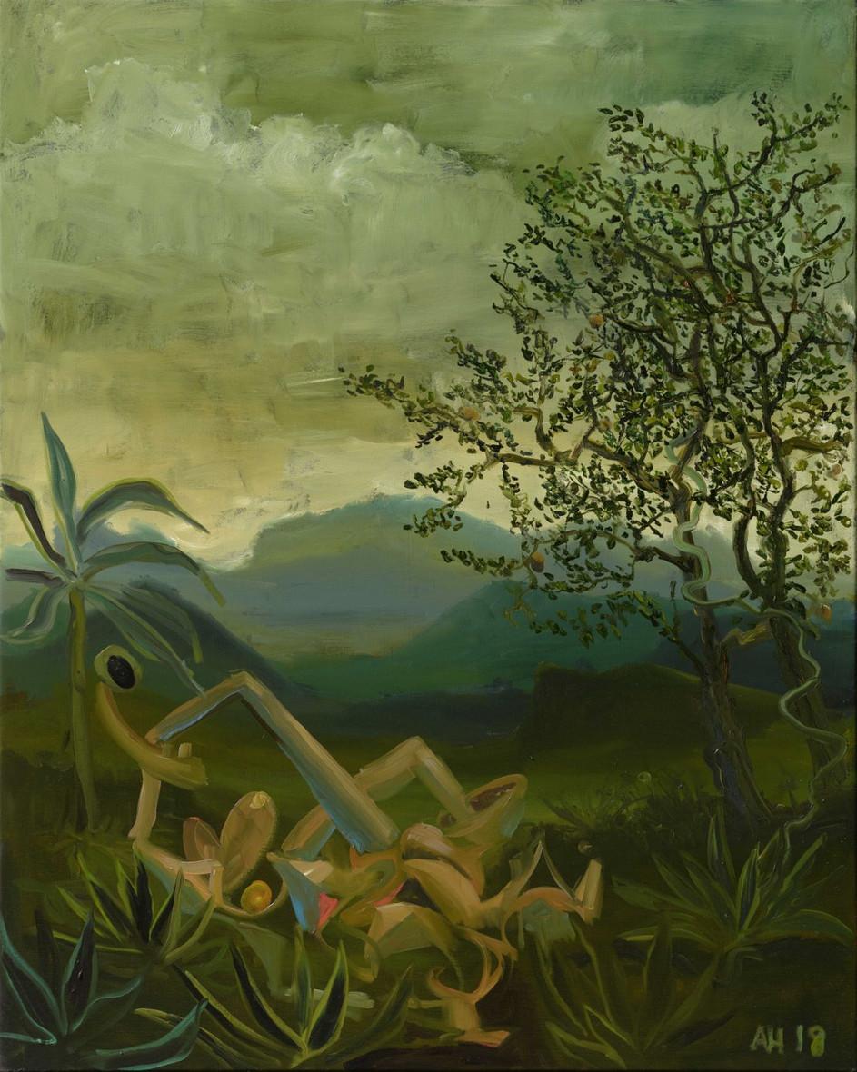 ANTON HENNING Pin-up No. 238 (Leda), 2018 oil on canvas 120 x 100 cm