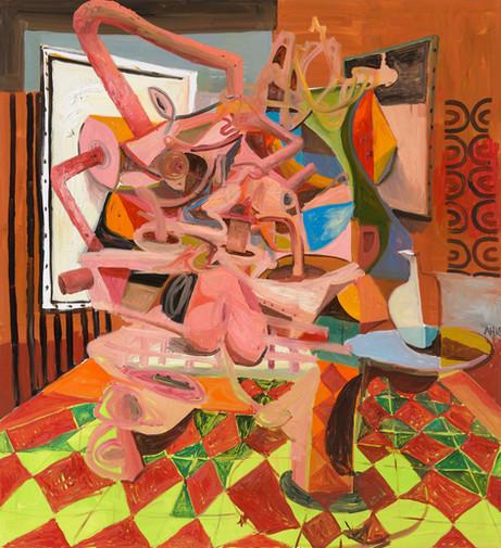 ANTON HENNING Pin-up No. 220, 2018 oil on canvas 240 x 220 cm