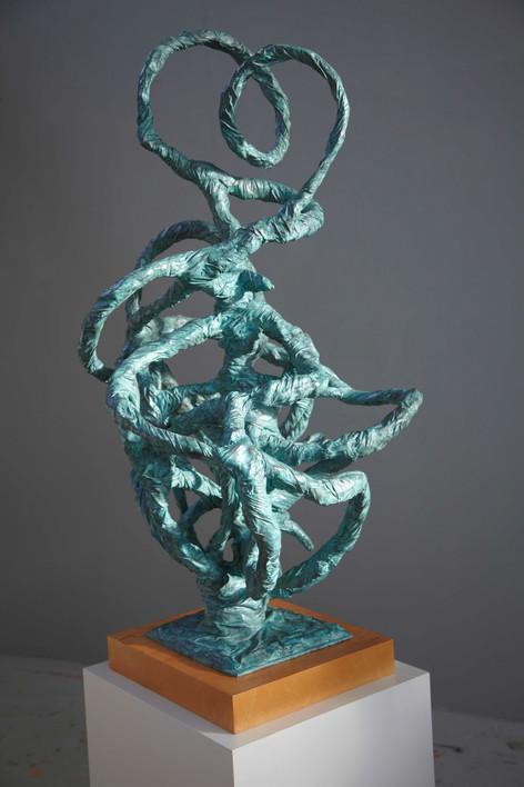 ANTON HENNING Blumenstilleben No. 396, 2008 patinated bronze 138 x 74 x 85 cm, 8 x 44 x 50 cm (plinth), 110 x 55 x 60 cm (plinth 2) edition of 3 and 1 A.P.