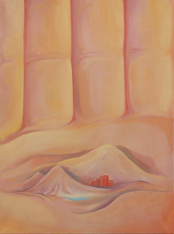 TOMASZ KOWALSKI Oaza, 2018 oil on canvas 80 x 59,5 cm