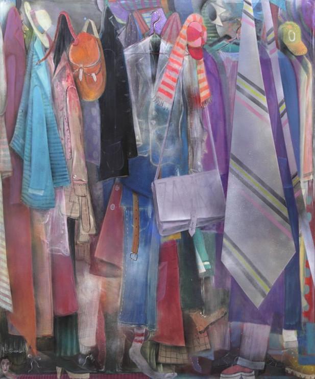 TOMASZ KOWALSKI Krawat, 2012 oil, acrylic, spray on canvas 180 x 150 cm