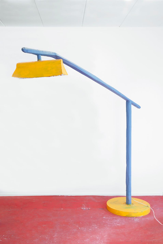 RINUS VAN DE VELDE,  Prop, Studio Robert Rino, Blue & Yellow Lamp, 2017