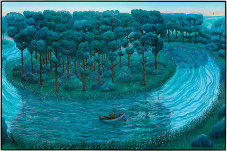 BEN SLEDSENS Rowing on the River, 2020 oil and acrylic on canvas 190 x 290 cm