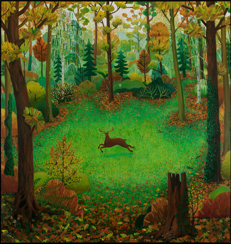 BEN SLEDSENS Hunted Deer, 2020-2021 oil and acrylic on canvas 220 x 210 cm