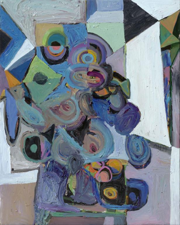 ANTON HENNING Blumenstilleben mit Früchten No. 108, 2019 oil on canvas 150 x 120 cm
