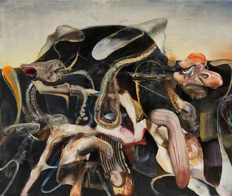 ADRIAN GHENIE The Hunter 3, 2020 oil on canvas 220 x 260 cm