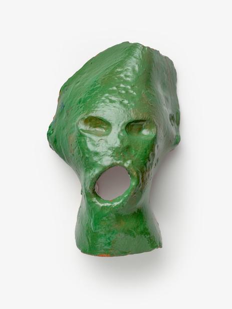 JONATHAN MEESE DER AQUA-SCHREI (ABER BITTE MIT SAHNE), 2020 glazed ceramic, artist pedestal 30,5 x 20,5 x 16 cm 125 x 30 x 25 cm (pedestal)