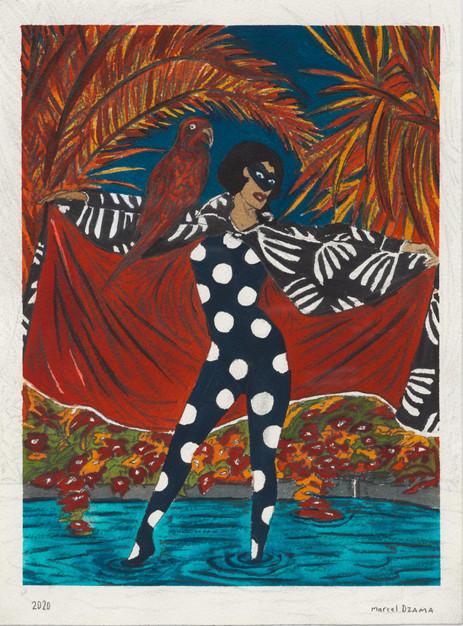 MARCEL DZAMA Calypso, 2020 ink, watercolor, and graphite on paper 31,1 x 22,9 cm
