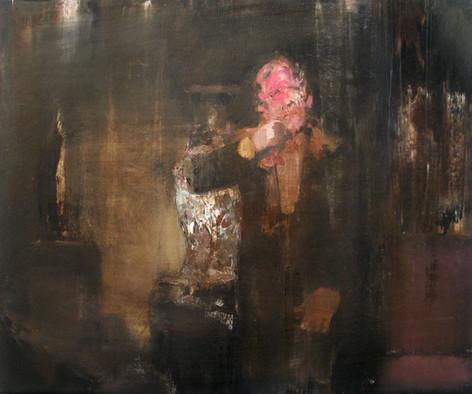 ADRIAN GHENIE Pie Fight Study, 2009 oil on canvas 50 x 60 cm