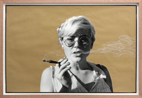 ED TEMPLETON Smoking Girl, Los Angeles, 2013 60.5 x 89 cm unique photograph with paint