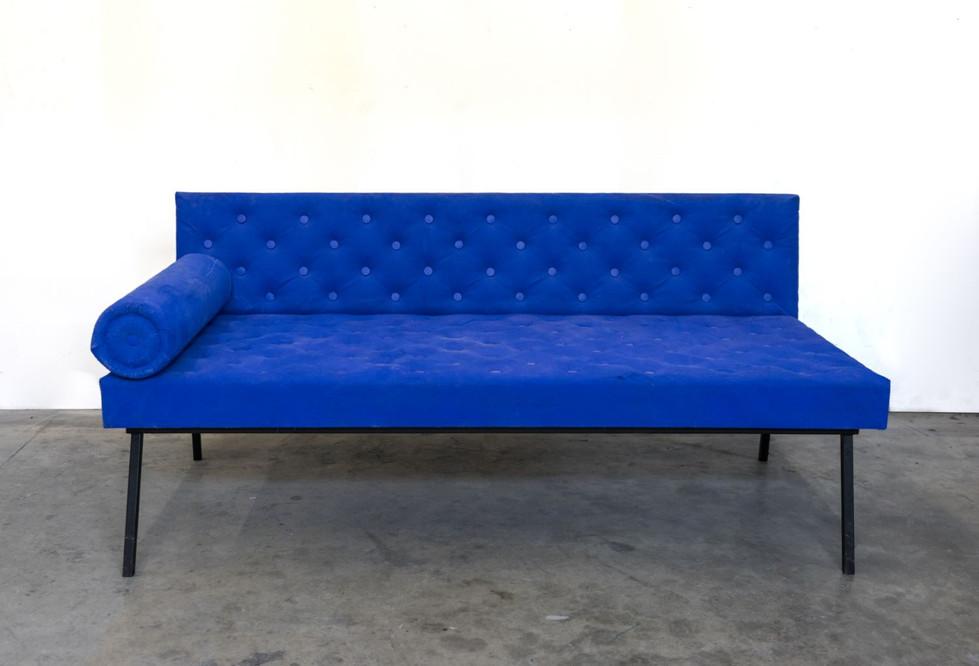 RINUS VAN DE VELDE, Prop, Hotel room, Blue sofa., 2018