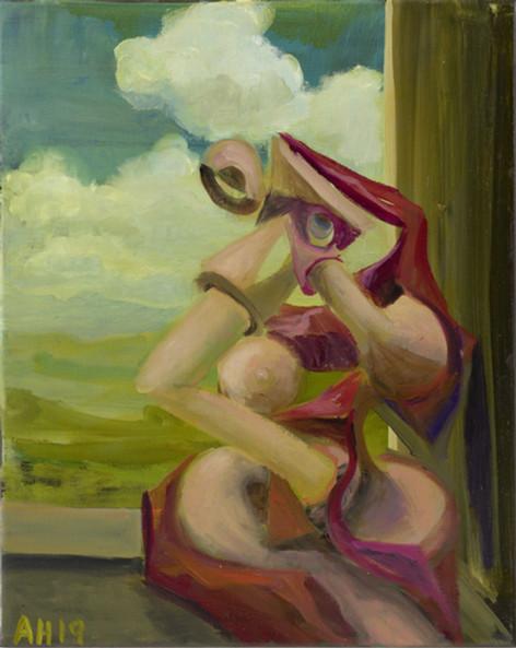 ANTON HENNING Pin-up No. 267, 2019 oil on canvas 50 x 40 cm