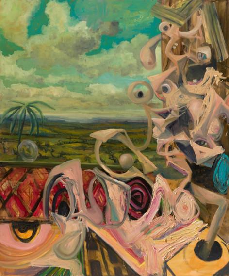 ANTON HENNING Pin-up No. 259, 2019 oil on canvas 180,2 x 150 cm
