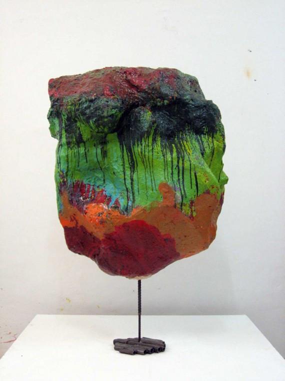 FRANZ WEST Rauch, 2008 papermaché, acrylic paint, metal 152 x 104 x 62 cm