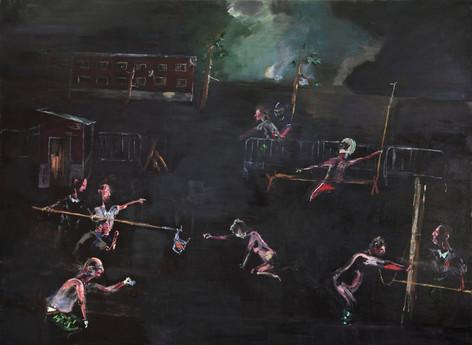 AARON VAN ERP De overgave van Occupy Breda, 2011 oil on canvas 220 x 300 cm