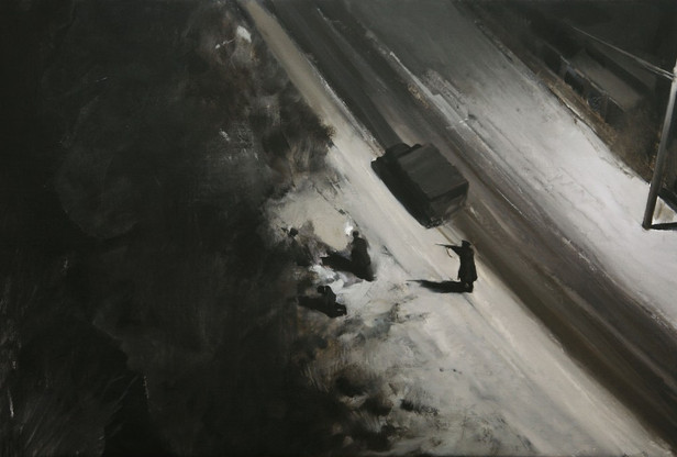 ADRIAN GHENIE It could be anywhere, 2008 oil on canvas 81 x 120 cm
