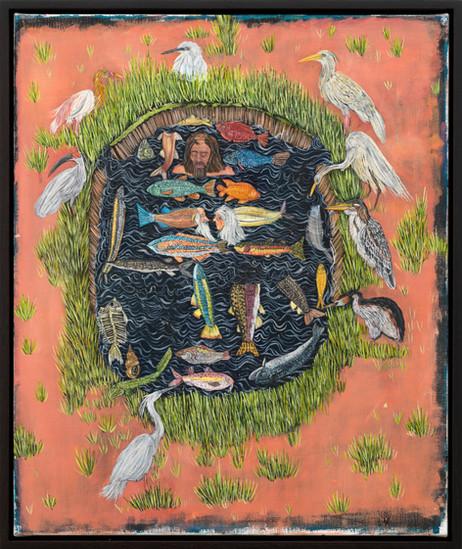 BRAM DEMUNTER My Time In The Wetlands, 2019 - 2021 oil on canvas 60 x 50 cm