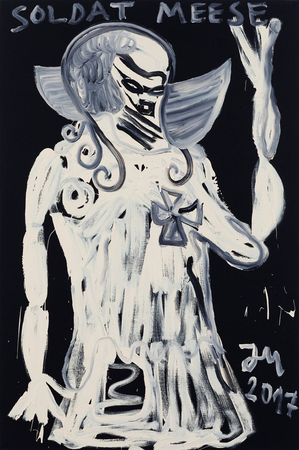 "JONATHAN MEESE DER IMMERGEILE ""MEERMATZ DE PAKTY"" IM ERZRAUM, 2017 acrylic on canvas 210,5 x 140,3 x 3,3 cm"