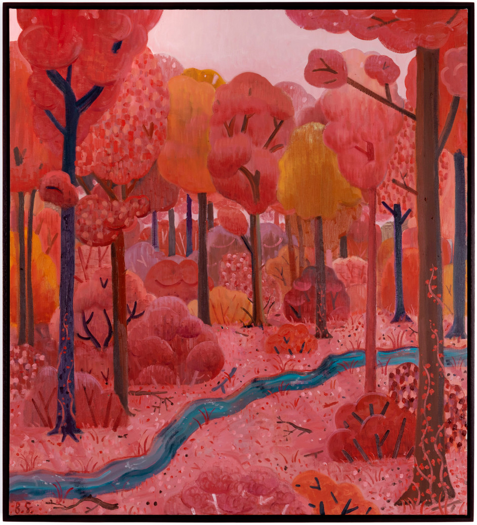 BEN SLEDSENS Blue River, 2020 oil on canvas 110 x 100 cm