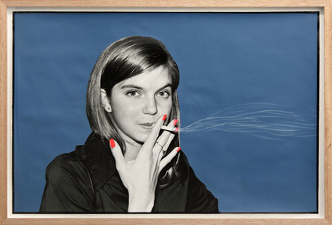 ED TEMPLETON Girl Smokes, Munster, Germany, 2013 60,5 x 89 cm  unique photograph, paint