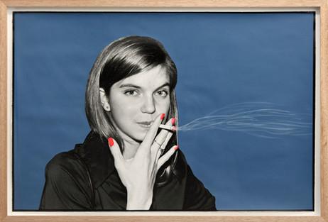 ED TEMPLETON Girl Smokes, Munster, Germany, 2013 60,5 x 89 cm  unique photograph, paint